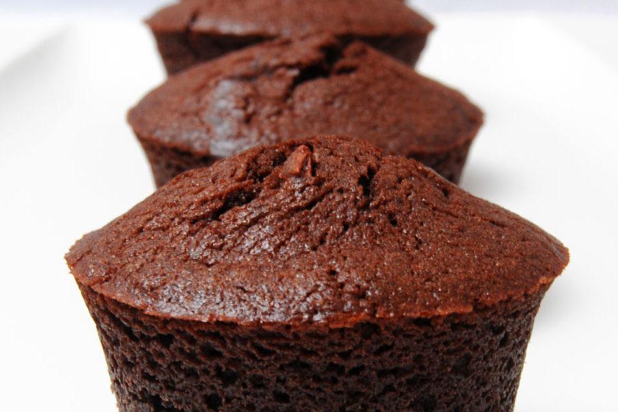 Recette de Muffins au chocolat et grué de cacao