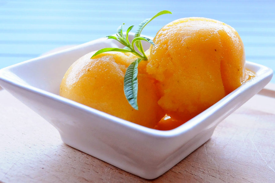 Recette de Sorbet nectarine et verveine citron