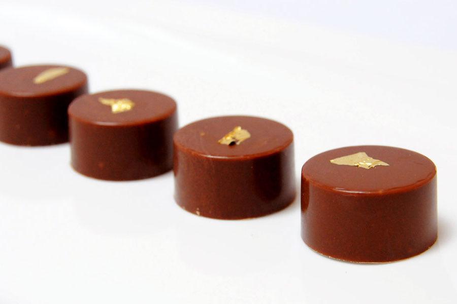Recette du Bonbon au chocolat au lait ganache Caramel au beurre salé