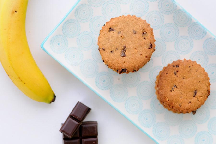 Recette de biscuits sans gluten Choco-Banane